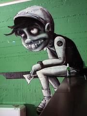 character (mrzero) Tags: eye art colors face lines wall effects graffiti paint hungary character eger spray human colored spraypaint graff job cfs mrzero