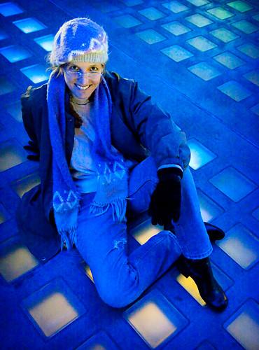 Diane in the Sky Bridge (ISO 25,600!)