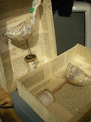 Papier Mache boxes (hens teeth) Tags: papier mache