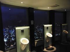 夜景が綺麗に見えるトイレ