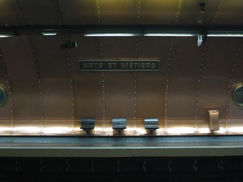 La station arts et metiers ligne 11 du métro parisien