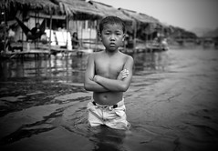 Laos boy in the river (falsalama) Tags: street portrait laos vangvieng namsong  falsalama   danielgriffin