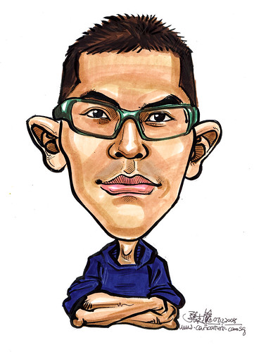 Caricature for Singapore Armed Forces 8