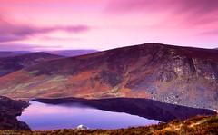 Pink Lough (Darragh Sherwin) Tags: ireland lake film nature water 35mm canon landscape eos lough scanner slide slidefilm scan velvia scanned 300 wicklow canondslr goldenhour lightroom velvia50 fujivelvia canoneos300 sallygap luggala loughtay darraghsherwin omot epsonv500 absolutelystunningscapes