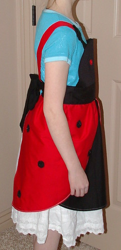 ladybug apron right side