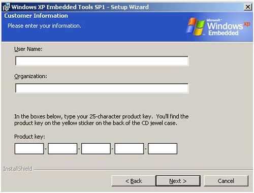 Windows xp embedded tools sp1 product key