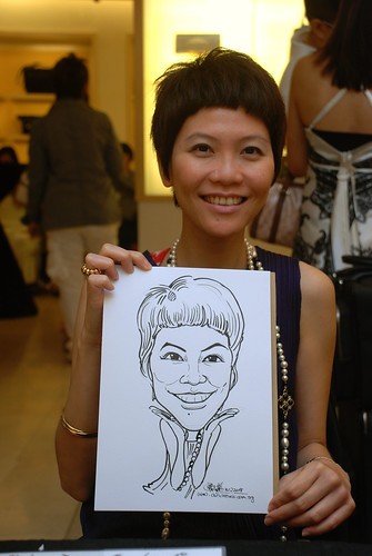 Caricature live sketching for Bulgari Christmas Brunch - 10