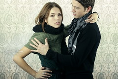 before Christmas (claudiaveja) Tags: christmas light woman man love fashion delete10 studio photography couple stock handsome images save together attractive claudia concept transylvania adelina veja preparations cluj romani