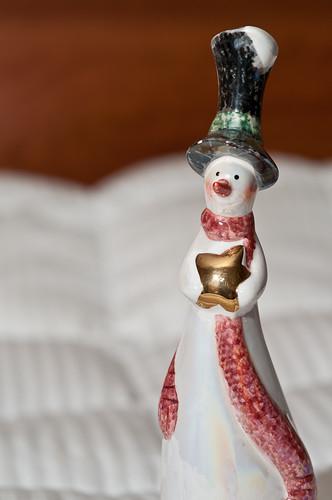 Snow Man Statue