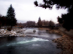 flow of water (Anonymous-Shinobi) Tags: park vacation lake snow water beautiful landscape flow stream snowy tahoe reno