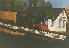 One of My H.O Scale model train layouts I built during the 1980's. Chicago Illinois. 1987.