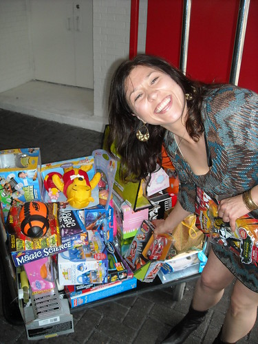 Shannon Helps Deliver Toys at the W Hotel for Toys for Tots