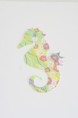 seahorse green paper made by ooty