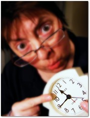 125/365 - Eek! Look at the time...! (ElbtheProf) Tags: selfportrait clock me myself hands time late oops clockface excuses project365 i nearlymissedone
