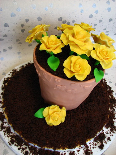 A Flower Pot for her Roses