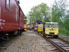 Speeders (Littlerailroader) Tags: newengland newhampshire caboose bm speeders trackcar tiltonnewhampshire trackcars