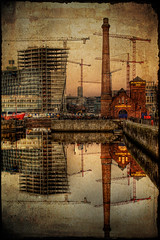 Changing Skyline (BarneyF) Tags: city texture liverpool dock crane centre albert pumphouse 08 capitalofculture flickrsbest mywinners superaplus aplusphoto betterthangood