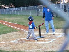 Zachary's first at-bat