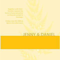 Invitation (gidu design) Tags: wedding orange fern square graphicdesign invitation adobeillustrator weddinginvitation