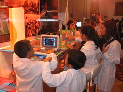 Niños de Florida con las OLPC (y una Classmate colada)