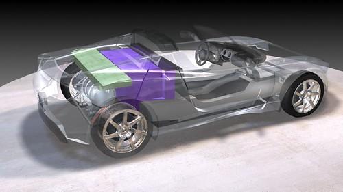 Tesla Roadster Inside