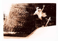 buzzblunt (LindzJo) Tags: doubleexposure skateboard nikonfa newtrick