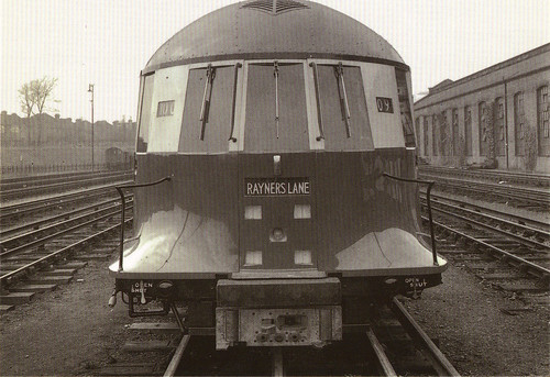 The experimental tube train front