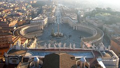 Overlooking St. Peter's Square (wenzday01) Tags: travel wallpaper vatican stpeters topv111 canon square topv333 europe basilica widescreen vaticano piazza stpeterssquare 169 sanpietro stpetersbasilica basilicadisanpietro piazzadisanpietro cittàdelvaticano canonsd450 sd450 vaticanycity