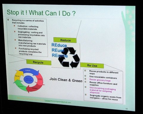 clean and green presentation slide what can I do 250408 sun