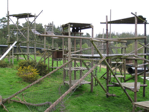 Chimp enclosure Monkey World, Dorset