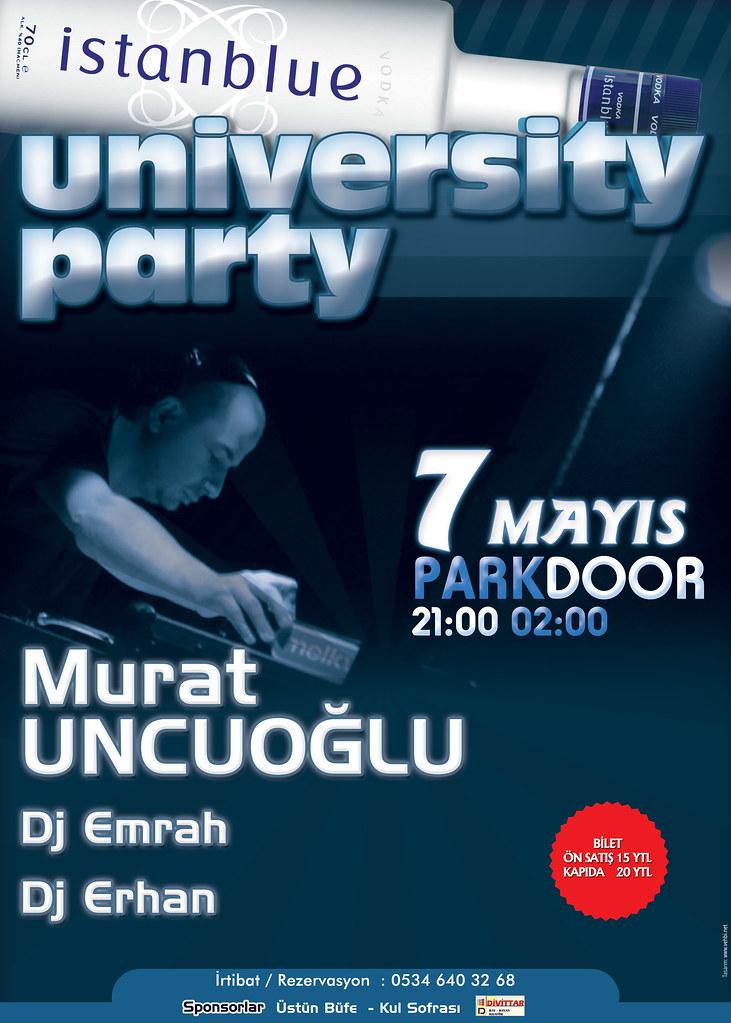 university party afiş