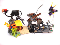 Battle of bandwagon hill (Adrian Florea) Tags: black war post lego fantasy bandwagon apocalyptic moc fabuland foitsop caveracer frogspace