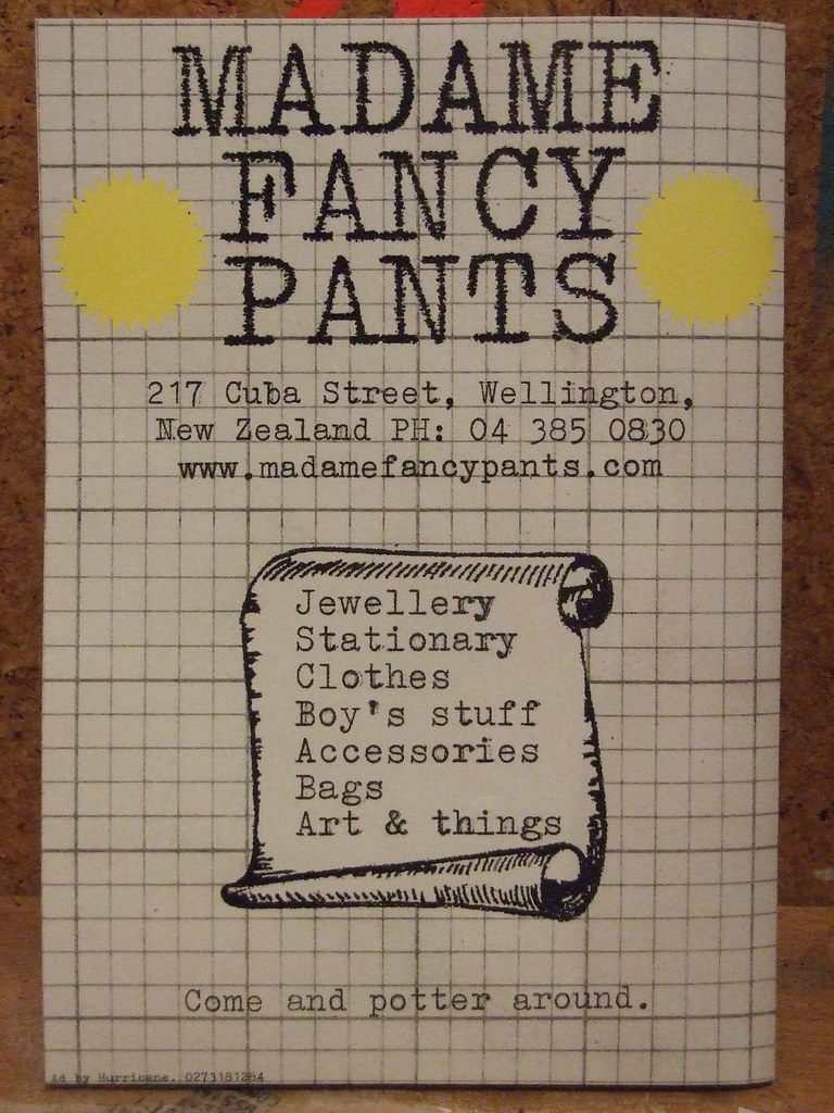 Ad I made for Madame Fancy Pants