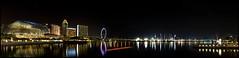 Theatres on the Bay ~ Panorama (Darrell Neo) Tags: panorama marina reflections singapore cityscape nightscape nightshot esplanade photomerge dri merlion digitalblending golddragon abigfave boattrails diamondclassphotographer goldstaraward singaporeflyers darrellneo