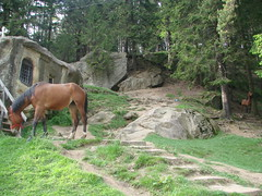 Hermit Cave in Putna (kellascat) Tags: monk romania cave hermit bucovina putna