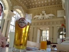 A beer at Gloriette restaurant, Schnbrunn (Normann) Tags: schnbrunn vienna wien beer restaurant austria palace gloriette