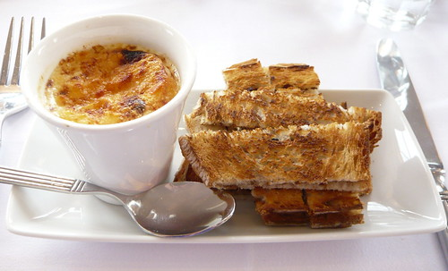 Le Café Anglais, Bayswater - Parmesan Custard with Anchovy Toasts