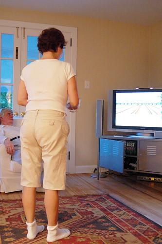 Grandma vs. Wii Bowling