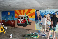 DSC_0771 (Kurt Christensen) Tags: art beach painting mural surf thrust gilgobeach gilgo
