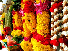 flower garlands (huitze) Tags: flowers india flower yellow flora singapore little indian religion culture garland ritual tradition hindu hinduism