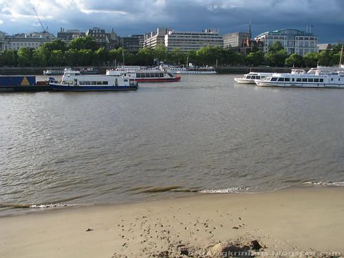 Beach on river