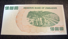 Zimbabwe100000000doller  (Mixtribe Photo) Tags: money panasonic zimbabwe z doller  100million 100000000  dmclx2  zwd  savezimbabwe    1
