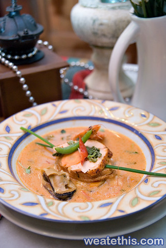 Sicilian seafood bisque with stuffed fish - La Gourmet House - The Curve