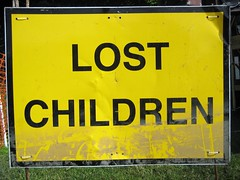 Lost Children? (tomaszd) Tags: carnival sign children lost leeds medieval 600 rothwell