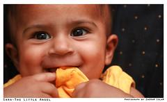 Sara-The Little Angel (ZaIGHaM-IslaM) Tags: cute angel canon sara sweet jan 400d zagham