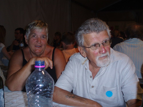 Mum and Dad at the fete