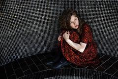 Terror (Robin L. Sharp) Tags: toronto ontario photographer sister young actress reddress gothicculture bronwensharp