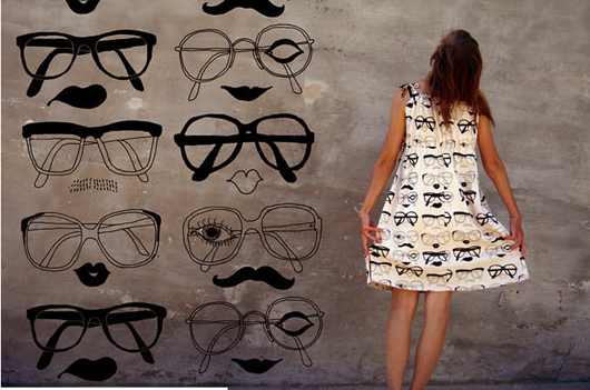 glasses dress