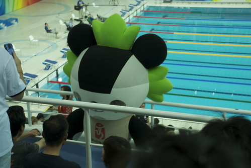 Get your big fat balloon head out of my way so I can see Michael Phelps!