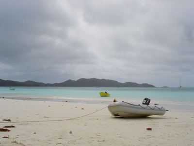 Anse Volbert near Praslin (Seychelles)